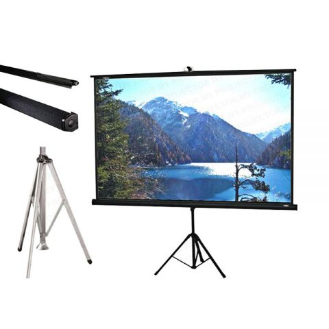 Draper Diplomat Built-In Keystone Eliminator Tripod Screen