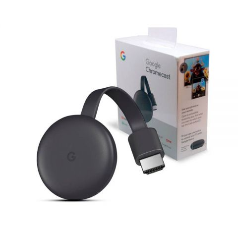 Google Chromecast 3 (3rd Generation) HDMI Streaming Media Player for TV Dongle