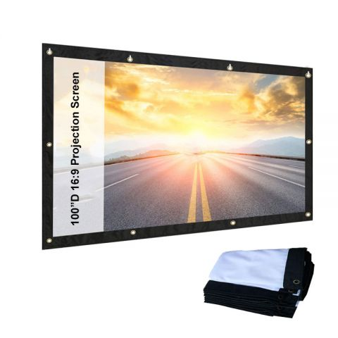 "84"" / 100"" 16:9 Portable Projector Screen Wall Mounted Screen for Projector Home Cinema indoor / Outdoor"