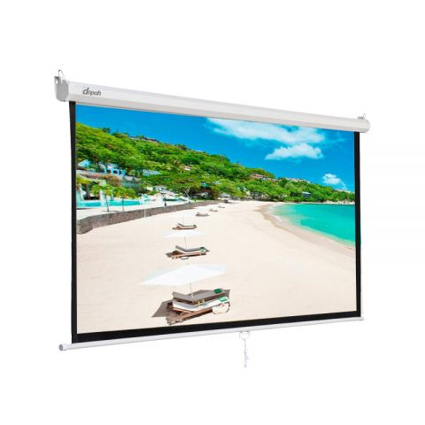"Dopah Manual Wall Screen 70"" X 70"" (6' x 6') Matt White"